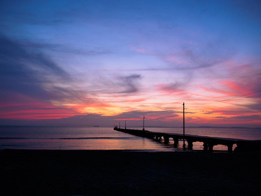 原岡海岸 夕陽